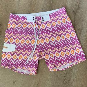 Purple and Orange Bathing Suit Shorts
